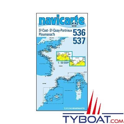 Navicarte n°536 et n°537 - Saint Cast, Saint Quay, Portrieux, Ploumanac'h - carte double