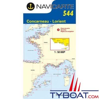 Navicarte n°544 -  Concarneau/Lorient/Ile de Groix - carte simple