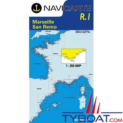 Navicarte n°R1 -  Marseille, San Rémo - carte grand routier