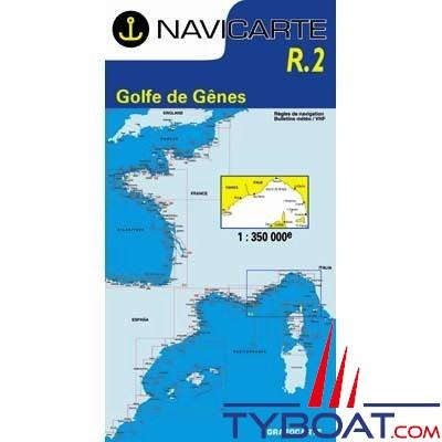 Navicarte n°R2 - Golfe de Gênes Hyères, Calvi, Ile d'Elbe - carte grand routier