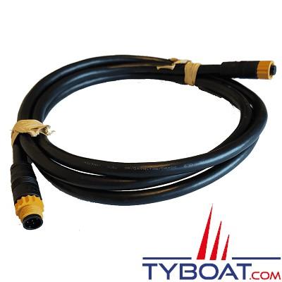 NAVICO - Câble NMEA2000 faible perte - longueur  2 mètres - prises Micro-C Mâle/Femelle