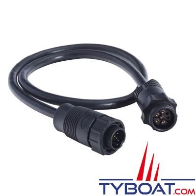 Navico - Câble adaptateur sonde connecteur bleu 7 Pin vers appareil connecteur noir 9 Pin