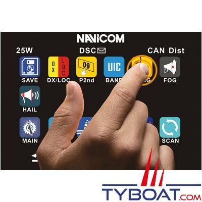 Navicom - RT1050-AIS - VHF fixe 25watts - Ecran tactile - NMEA2000 et récepteur AIS