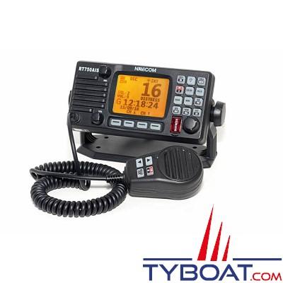 NAVICOM - RT750 AIS - VHF fixe ULTRA Compacte - Noire - Récepteur AIS intégré