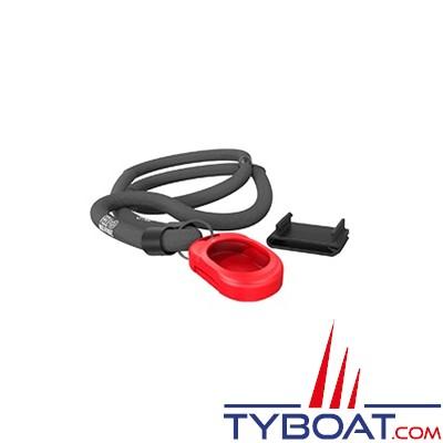 FELL Marine - Tour de cou rouge xTAG et CLIP ON Noir pour MOB+