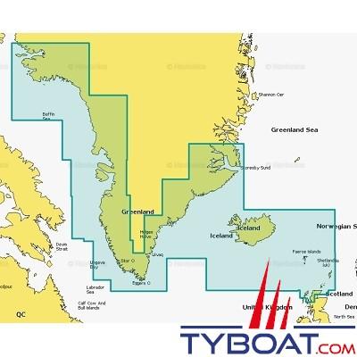 Navionics - Carte marine Navionics+ - 20XG  Groenland et Islande