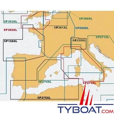 Navionics - Carte marine Platinum+ XL - Zone 5P158XL - Atlantique, Côtes Nord et Nord-Ouest péninsule ibérique