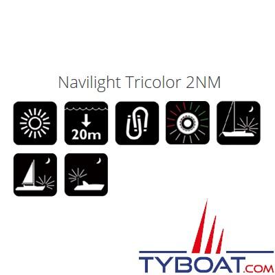 NAVISAFE - Lampe de sécurité Navi Light 360° 2 MN 16 Leds - Tricolore