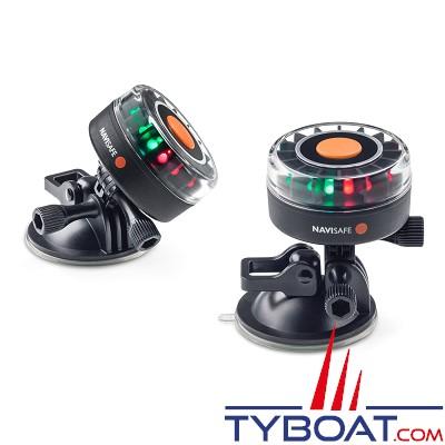 NAVISAFE - Lampe de sécurité Navi Light 360° 2 MN 16 Leds tricolores - base ventouse