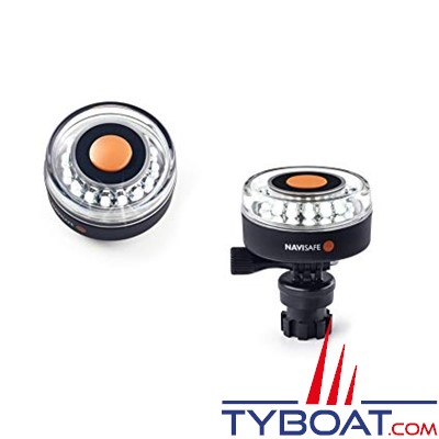 NAVISAFE - Lampe de sécurité Navi Light 360° Rescue 2 MN 16 Leds blanches - base Navimount