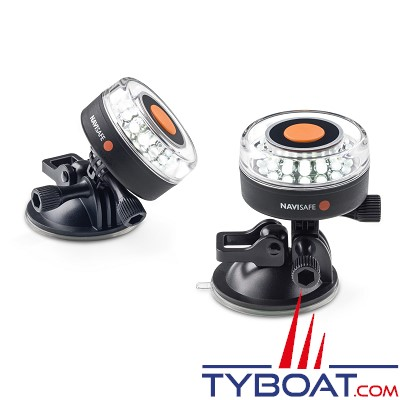 NAVISAFE - Lampe de sécurité Navi Light 360° Rescue 2 MN 16 Leds blanches - base ventouse