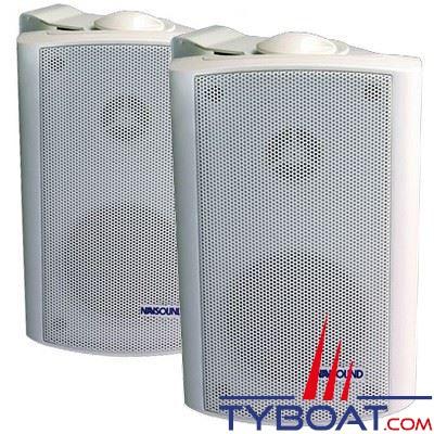 Navsound - Enceintes Allegro 50 Watts 4 Ohms - 177 x 115mm - IPX7 - blanc (la paire)