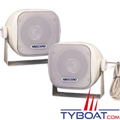 Navsound - Enceintes Opus 25 Watts 2 voies - 113 x 103mm - IPX7 - blanc (la paire)