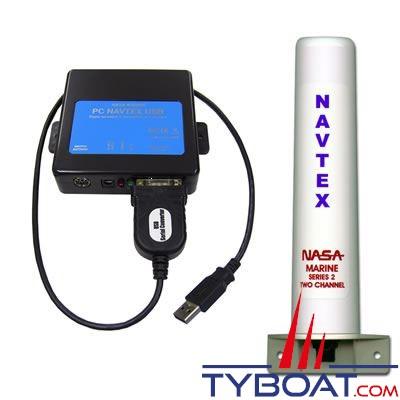 Navtex PC Nasa Marine PC PRO 3 bi-fréquences 490/518 KHZ avec antenne