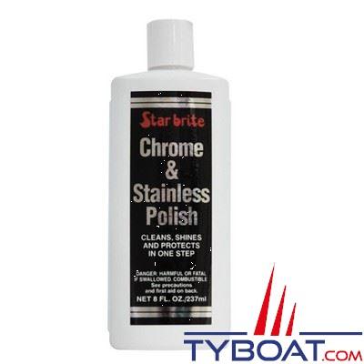 Nettoyant lustrant Star Brite Chrome & Stainless pour chrome et acier inoxydable 237 ml
