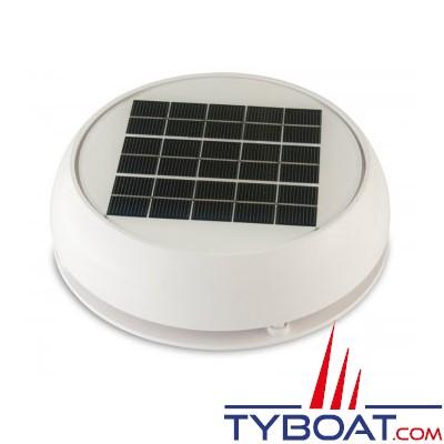 Marinco - Ventilateur solaire Jour/Nuit avec batterie - Ø 229 mm - Débit max 23 m3/heure