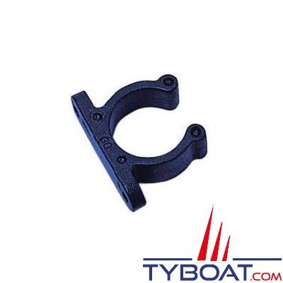 Pince support polyamide Ø20mm noir