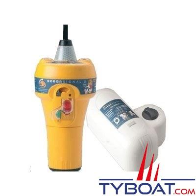 Océan Signal - Balise de détresse EPIRB E100 + Largueur automatique ARH100. (sans GPS) - largage automatique - catégorie 1