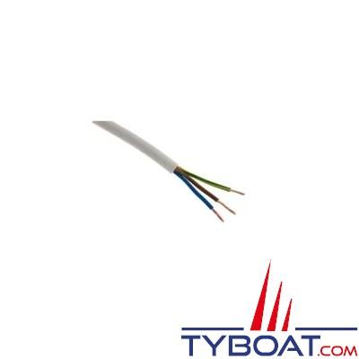 Câble souple HO5VVF 2 x 2,5 mm² gaine blanche - Touret 50 mètres