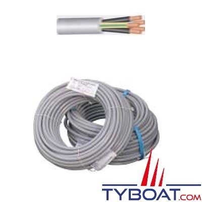 Câble souple HO5VVF 3 x 1,5 mm² gaine grise - 5 mètres