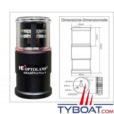 Optolamp - Feu à LED Amazonia Mirim 4 plus Compact 5 en 1 Multi-Fonctionnel Automatique Spécial