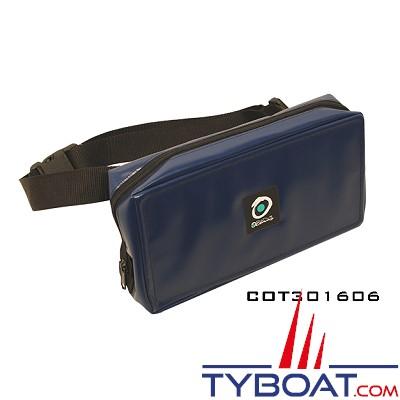 Outils océans - Sacoche ceinture (ceinture fixe) - Bleue marine - 30 x 16 x 6 cm