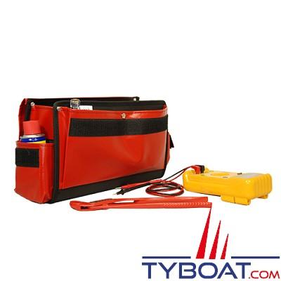 Outils océans - Sacoche outils avec rabat - Rouge - 35 x 20 x 10 cm