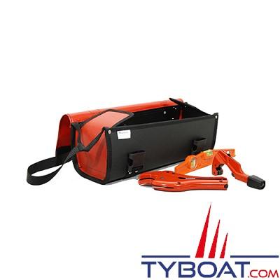 Outils océans - Sacoche outils avec rabat - Rouge - 45 x 15 x 15 cm