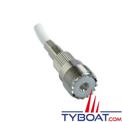Pacific Aérials - Connecteur PL 259 femelle P1080 pour câble RG58 - à sertir