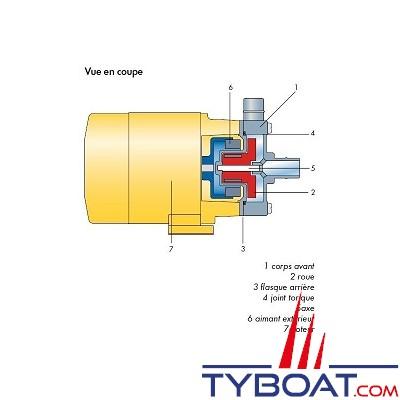 Pan World Europe - Pompe eau de mer - Magnétique - 220 V - 50/60 Hz - 40 l/mn - 65 W - Ø 3/4