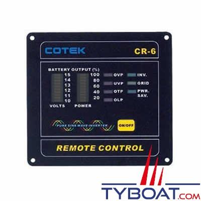 Panneau de commande à distance pour convertisseur Cotek série SD 12v