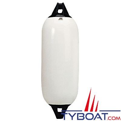 Pare-battage Plastimo embouts renforcés Ø 12 cm x L 48 cm blanc et noir pour bateaux jusqu'à  7m.