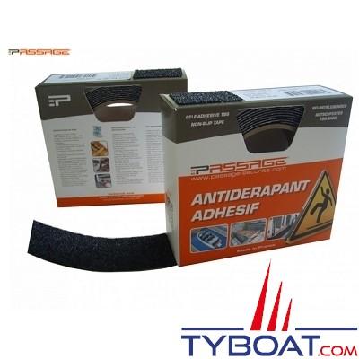 PASSAGE - Antidérapant adhésif - TBS 10 - 10 mètres x 100 mm - Epaisseur 1 mm - Noir
