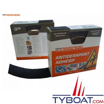 PASSAGE - Antidérapant adhésif - TBS 10 - 10 mètres x 40 mm - Epaisseur 2 mm - Noir