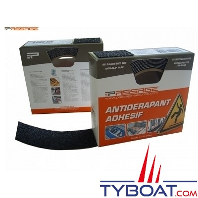 PASSAGE - Antidérapant adhésif - TBS 10 - 10 mètres x 25 mm - Epaisseur 2 mm - Sienne
