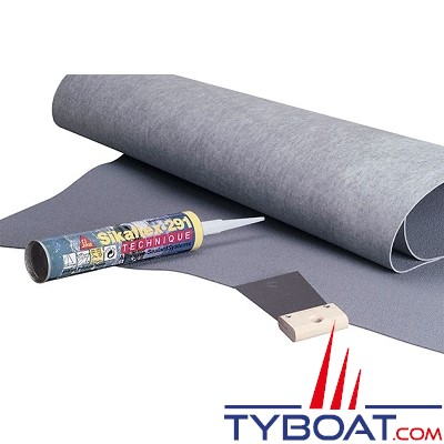 PASSAGE - Plaque antidérapant à coller - Largeur 0.90 m - Longueur 1.28 m - Epaisseur 2.1 mm - Bleu
