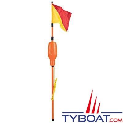Perche IOR télescopique Plastimo 1,95 m. / 3,52 m. flotteur jaune