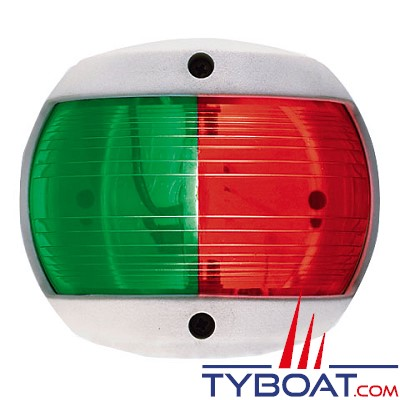 PERKO - 0170 SERIES - Feu de navigation Bi-color - Rouge/Vert - Blanc - 12 Volts