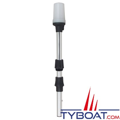 PERKO - 1430 - Feu de mouillage démontable avec embase - Tout horizon - Blanc - 600 mm