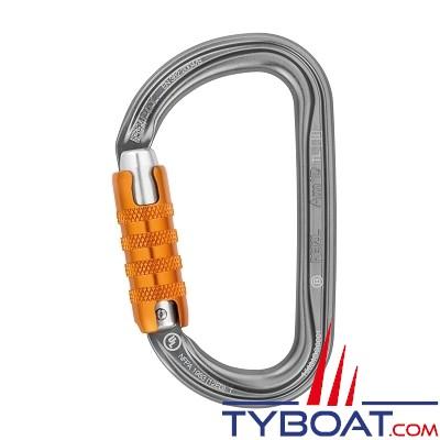 Petzl - Mousqueton assymétrique Am'd Trial Lock - conçu pour descendeur l'DS