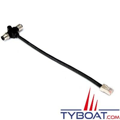 PHILIPPI - Câble en T  M12-RJ45  pour réseau PBUS.