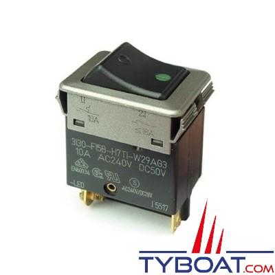 ETA- Interrupteur disjoncteur thermique 3130-F12B-H7T1-W24AB7- 6A - AC jusqu'à 230 V.