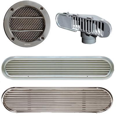 Grilles ventilation cales moteur
