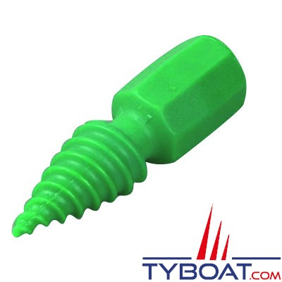 Pinoche nylon For Water hélicoïdale H. 145 x Ø 35 mm - vert