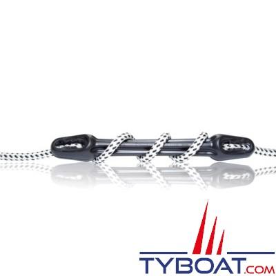 PLASTIMO - Amortisseur U-Cleat avec coinceurs amovibles intégrés - EPDM - Pour cordage Ø 10-12 mm