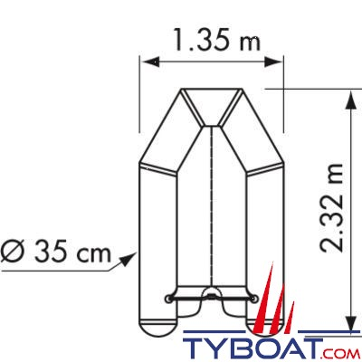 Plastimo - Annexe série Fun II - Pi230VB - 2.32 m - Charge maxi 380 Kg