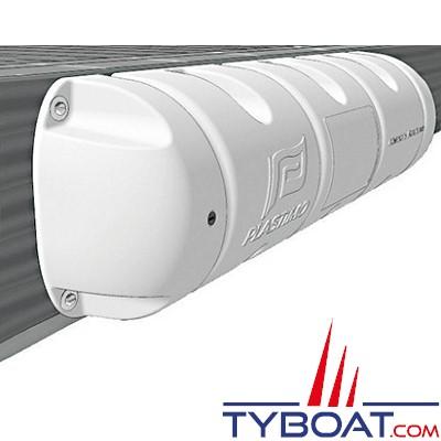 PLASTIMO - Bumper - Défense de ponton 1/2 - Blanc - Ø 18 cm x longueur 40 cm