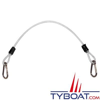 PLASTIMO - Cable de sécurité gainé - Inox - Longueur 0.6 m