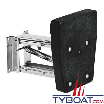 PLASTIMO - Chaise moteur - Châssis et ressorts Inox - Tableau plastique - Pour 10 CV - 30 kg max