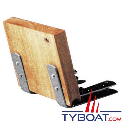 PLASTIMO - Chaise moteur fixation sur plateforme - Support Inox - Tableau bois